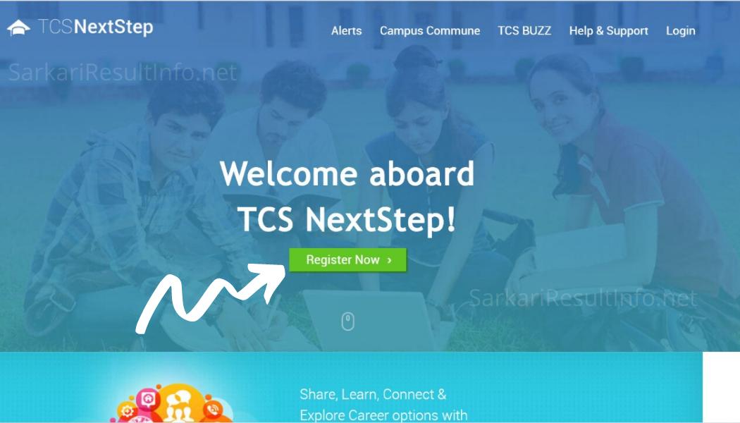 TCS NQT Registration Step 1