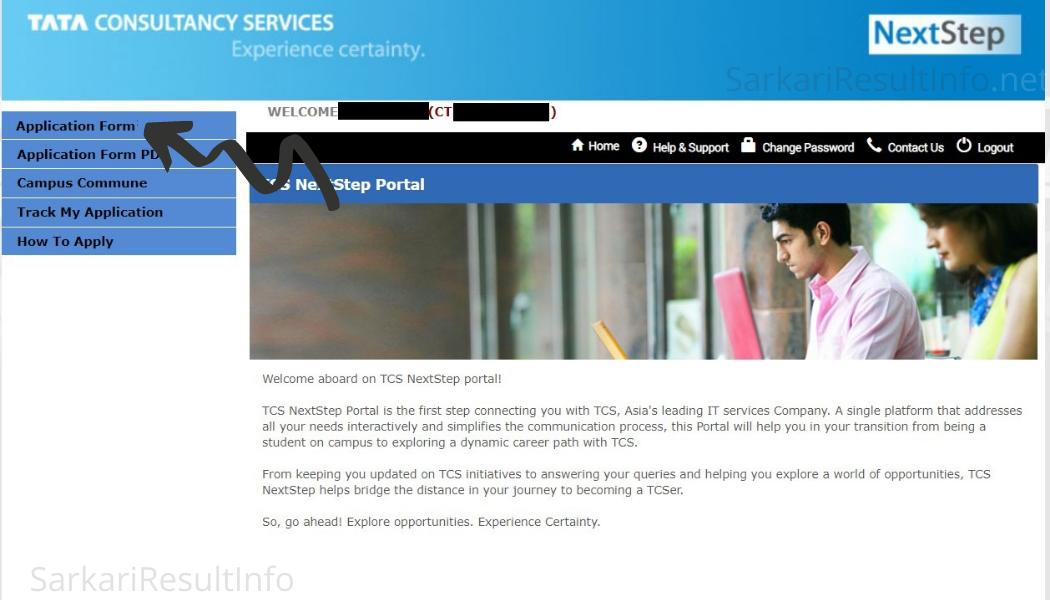 TCS NQT Registration Step 7